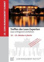 finden Sie den Flyer zum 10. Lean Management Summit
