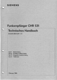 CHR-531 Technisches Handbuch