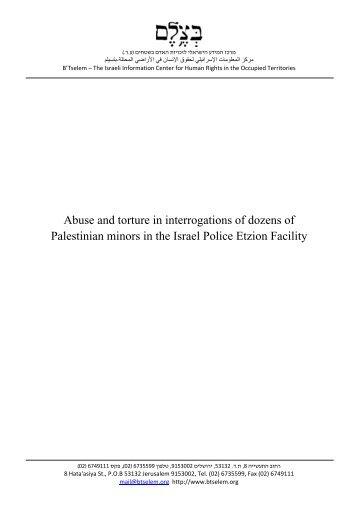 The full document, PDF - B'Tselem
