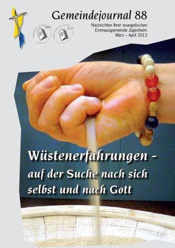 Gemeindejournal 88 - März - Mai 2013 - Emmaus Gemeinde ...