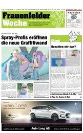 Spray-Profis eröffnen die neue Graffitiwand - Tagesanzeiger e-paper