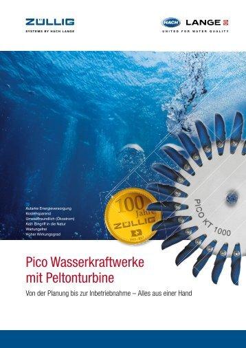 Pico Wasserkraftwerke mit Peltonturbine