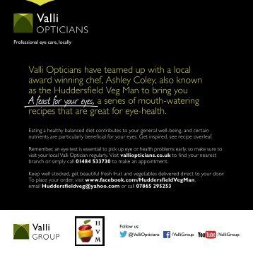 Download the Recipe Card - Valli Opticians