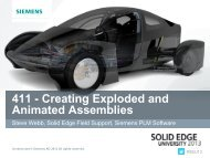 411 - Creating Exploded and Animated Assemblies - Solid Edge ...