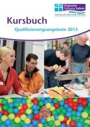 Kursbuch 2013 - Diakonie Stiftung Salem