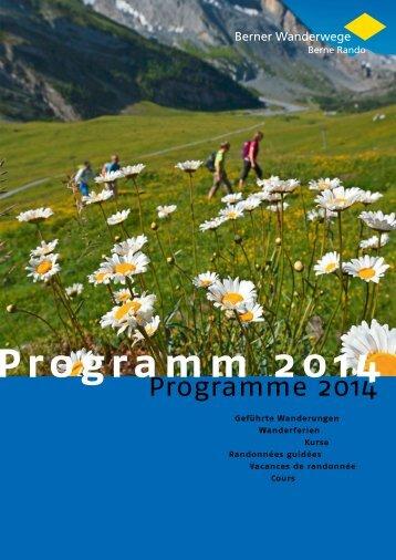 Programm 2014 - Schneeschuhtrails
