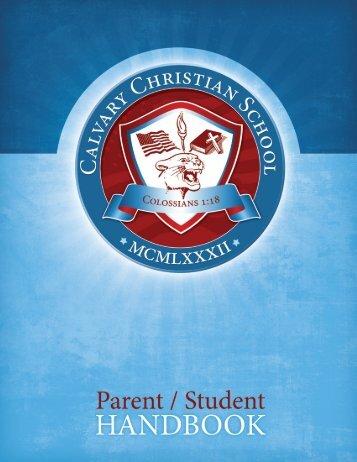 Parent/Student Handbook - Calvary Christian School