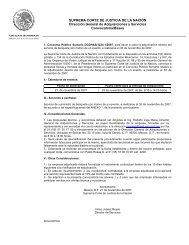 SUPREMA CORTE DE JUSTICIA DE LA NACIÓN Dirección General ...