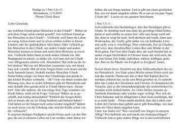 Predigt zu 1 Petr 5,5c-11 Meimsheim, 12.9.2010 Pfarrer Ulrich Harst ...