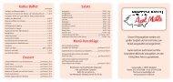 Salate Kaltes Buffet Menü-Vorschläge Dessert - Partyservice Möhle