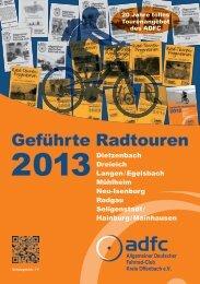 Geführte Radtouren - ADFC Dietzenbach