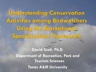 Understanding Conservation Activities among Birdwatchers Using ...
