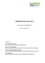 Digitale Pressemappe zum Zahnreport 2013 ( PDF , 501 KB ) Hinweis