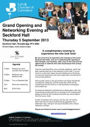 View additional details on this event - Seckford Hall