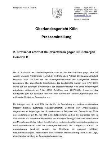 50468 Köln, Postfach 10 28 45