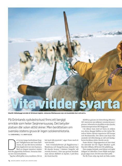 På Grönlands sydvästra kust finns ett bergigt ... - Dagens Arbete