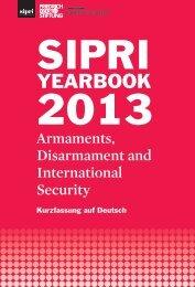 Armament, Disarmament and International Security - SIPRI