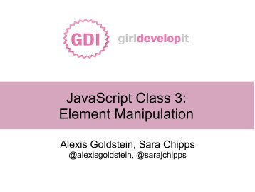 JavaScript Class 3: Element Manipulation - Live to Try