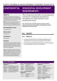 Component B2 - Coffs Harbour City Council