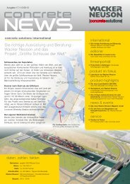 concrete news # 17 - WACKER NEUSON concrete solutions