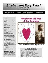 September 29, 2013 - Saint Margaret Mary Parish