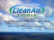 Clean Air Logix Presentation - West Coast Collaborative