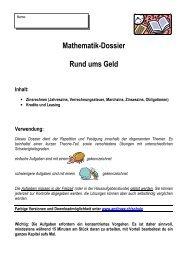 Mathematik-Dossier Rund ums Geld