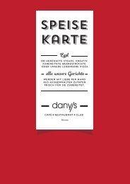 Speise karte - Danys Restaurant Neu-Ulm