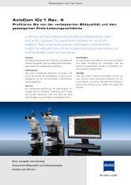 AxioCam ICc 1 Rev. 4 Produkt-Info - Carl Zeiss