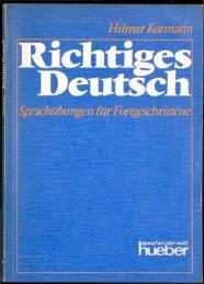 Hilmar Kormann Richtiges Deutsch - buchkalmar.de