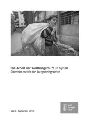 Unsere Nothilfe im Überblick (PDF) - Welthungerhilfe