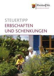 Steuertipp: Erbschaften und Schenkungen - Finanzministerium ...