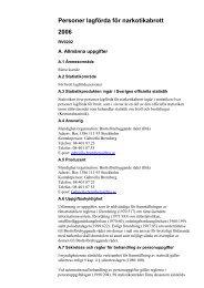 Personer lagförda för narkotikabrott 2006 Beskrivning av statistiken