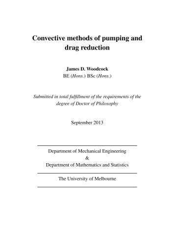 Convective methods of pumping and drag reduction - University of ...