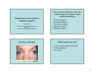 Strabismus for the anterior segment surgeon Sensory exotropia ...