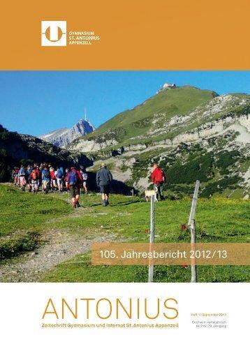 Jahresbericht 2012/13 (pdf) - Gymnasium St. Antonius Appenzell