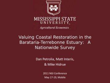 Valuing Coastal Restoration in the Barataria-Terrebonne Estuary: A ...