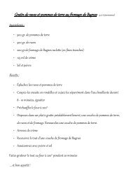 Gratin de raves et pommes de terre au fromage de Bagnes (4 ... - rts.ch