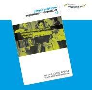 junges publikum sep-dez/2013 - kleines theater.haus der freien szene