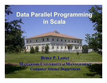 Data Parallel Programming in Scala