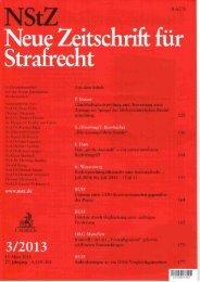 Neue Zeitschrift für Strafrecht - Anwalt Sindelfingen