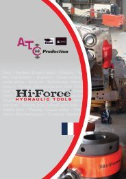 Crics – Pompes - Coupes cables – Presses ... - ATC Production