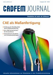 CADFEM Journal 2-2013 - CAD-FEM GmbH
