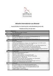 2013 April Aktuelle Informationen aus Brüssel - Brandenburg ...