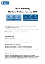 Ausschreibung - ITU World Triathlon Series Hamburg