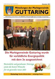 Gemeinde Nachrichten Dezember 2013 - Marktgemeinde ...
