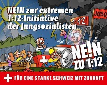 Pocket-Flyer - NEIN zur 1:12-Initiative der Jungsozialisten