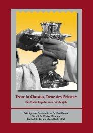 Treue in Christus, Treue des Priesters