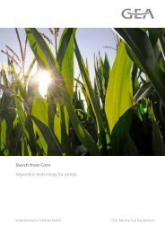 Starch from Corn Separation technology for cereals - GEA Westfalia ...