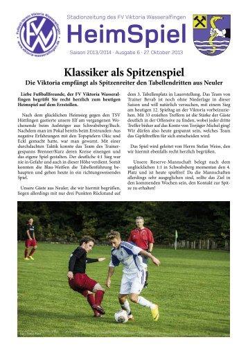 HeimSpiel - FV Viktoria Wasseralfingen